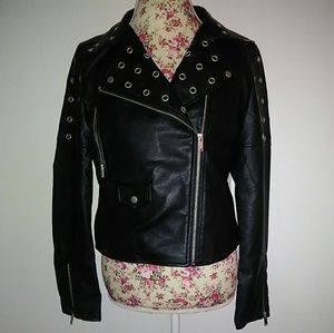 Edgy leather jacket